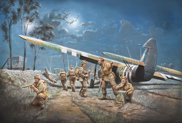 Italeri 1/72 AS51 Horsa Mk I Aircraft w/13 British Paratroopers D-Day
