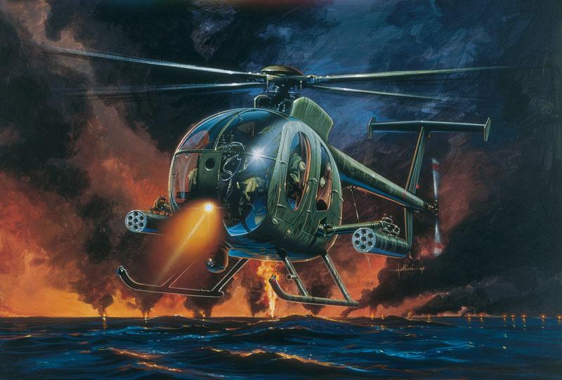 Italeri 1/72 AH6 Night Fox Helicopter