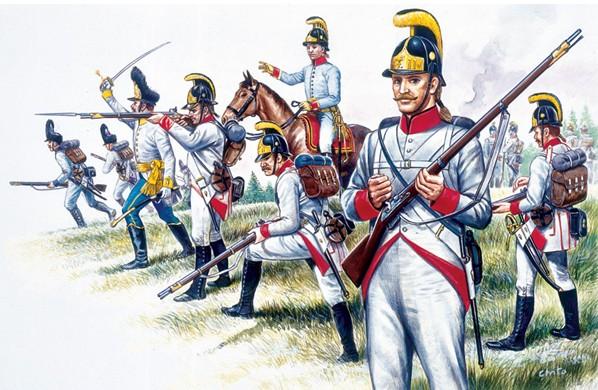 Italeri 1/72 Napoleonic War: Austrian Infantry (48 & Horse)