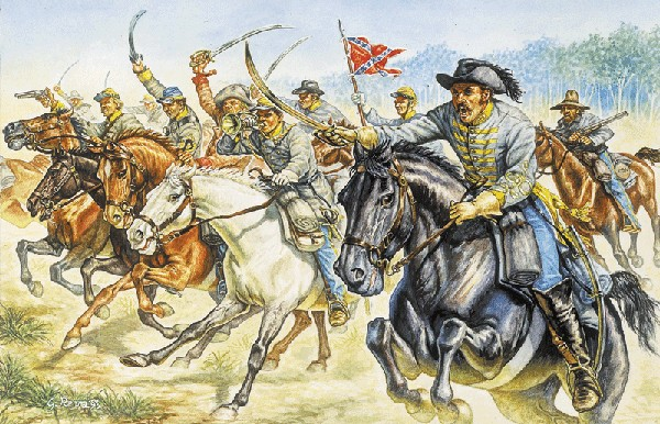 Italeri 1/72 American Civil War: Confederate Cavalry (17 Mtd)