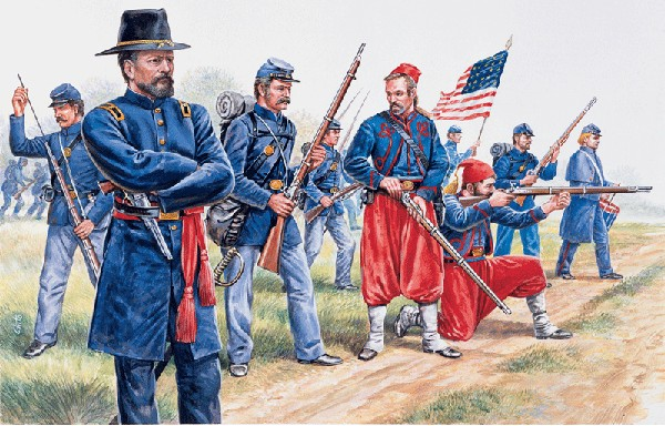 Italeri 1/72 American Civil War: Union Infantry & Zouaves (50)