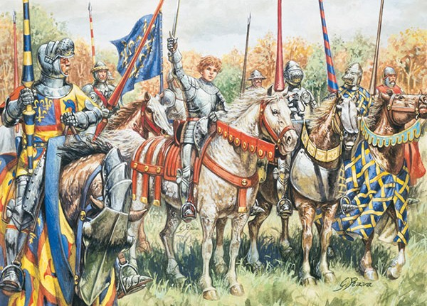 Italeri 1/72 100 Year War: French Warriors (8 Mtd & 20 Foot)