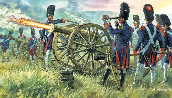 Italeri 1/72 Napoleonic War: French Imperial Guard Artillery (16 w/2 Guns)