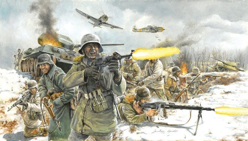 Italeri 1/72 German Infantry Winter Uniform (36)