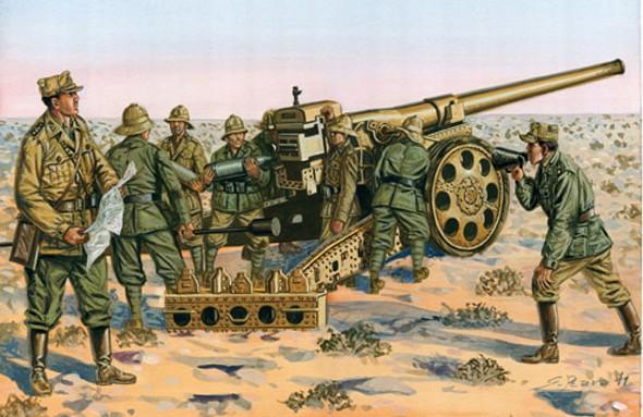 Italeri 1/72 Italian Cannon da149/40 w/Crew