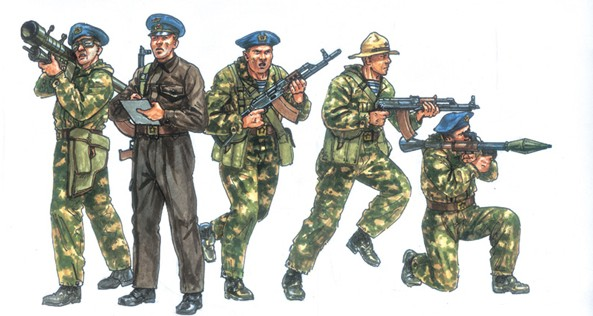Italeri 1/72 Soviet Special Forces 1980's (50)