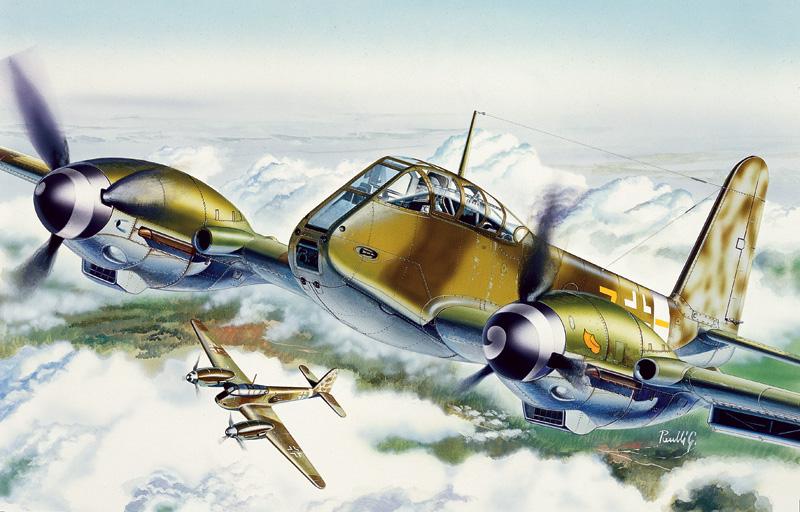 Italeri 1/72 Me410 Hornisse Fighter