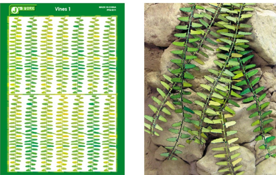 Js Work Models Multi-Scale Vines (Colored Paper)