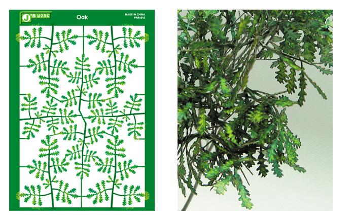 Js Work Models Multi-Scale Oak Leaves (Colored Paper)