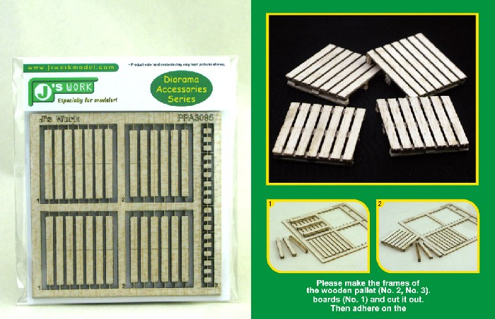 Js Work Models 1/35 Wooden Pallet (4) (Laser Cut)