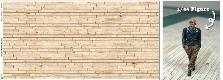 Js Work Models Light Tone Wood Plank Diorama Pattern (2) (Colored Paper) 3097