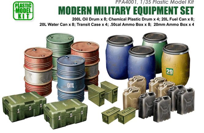 Js Work Models 1/35 Modern Military Equipment Set (Plastic Kit)