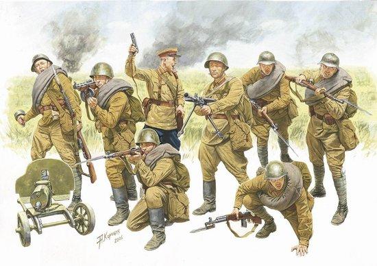 Zvezda 1/35 Red Army Infantry 1940-1942 (8)