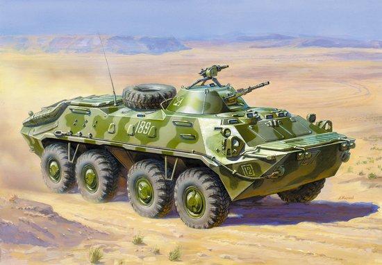 Zvezda 1/35 BTR70 Soviet Armed Personnel Carrier Afghanistan 1979-89