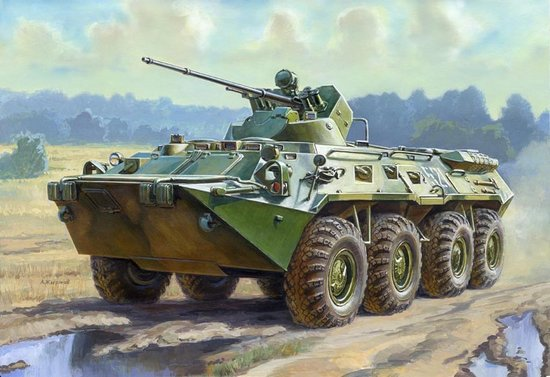 Zvezda 1/35 BTR80A Russian Armored Personnel Carrier