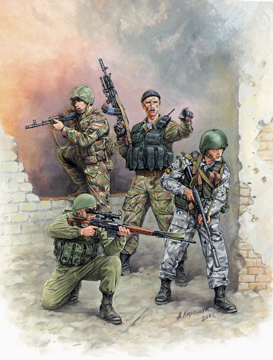 Zvezda 1/35 Modern Russian Special Forces (4)