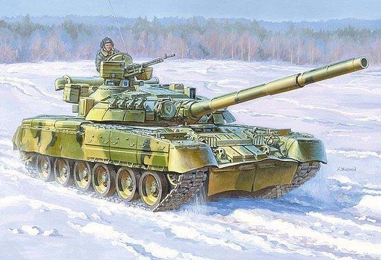 Zvezda 1/35 Russian T80UD Main Battle Tank