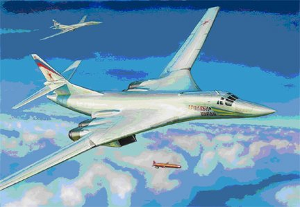 Zvezda 1/144 Tu160 Blackjack Russian Supersonic Bomber
