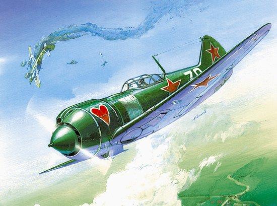 Zvezda 1/72 WWII LA5 FN Soviet Fighter