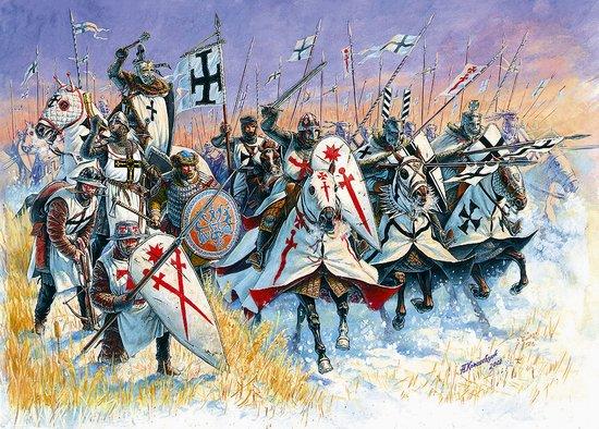 Image 0 of Zvezda 1/72 Livonian Knights XIII-XIV AD (33 w/9 Horses)