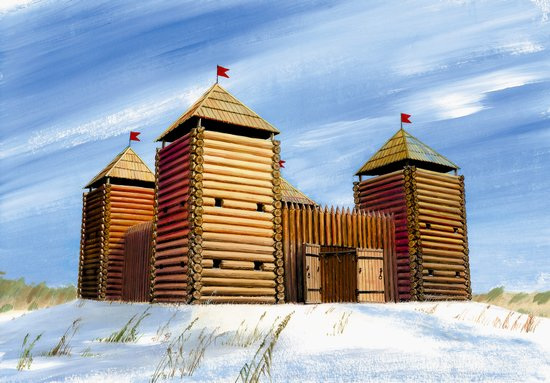 Image 0 of Zvezda 1/72 Medieval Wooden Style Fortress