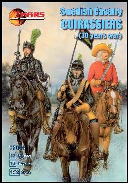 Mars Figures 1/72 Thirty Years War Swedish Cavalry Curassiers (12 Mtd)