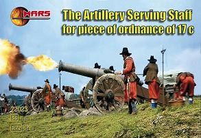 Mars Figures 1/72 17th Century Artillery Serving Staff Piece of Ordnance (56)