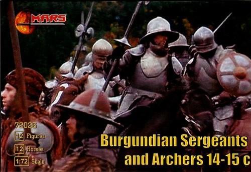 Mars Figures 1/72 14th-15th Century Burgundian Sergeants & Archers (12 Mtd)