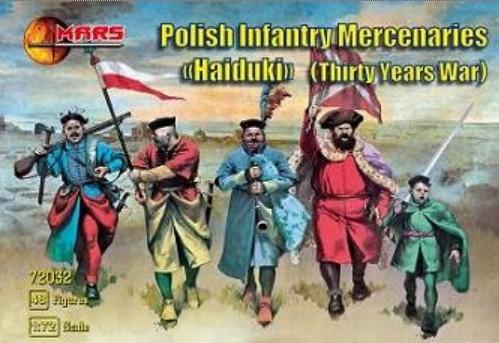 Mars Figures 1/72 Thirty Years War Polish Infantry Mercenaries (48)