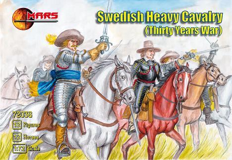 Mars Figures 1/72 Thirty Years War Swedish Heavy Cavalry (12 Mtd)