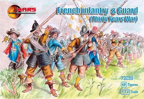 Mars Figures 1/72 Thirty Years War French Infantry & Guard (48)