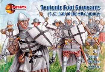 Mars Figures 1/72 1st Half XV Century Teutonic Foot Sergeants (48)