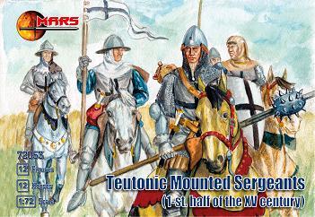 Mars Figures 1/72 1st Half XV Century Teutonic Sergeants (12 Mtd)
