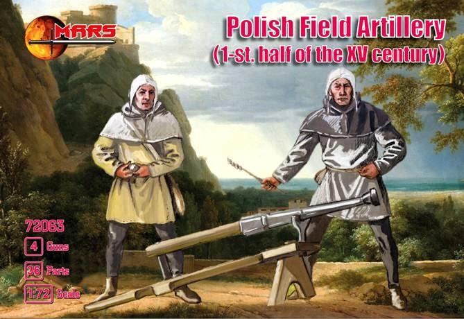 Mars Figures 1/72 1st Half XV Century Polish Field Artillery (16) w/Guns (4)