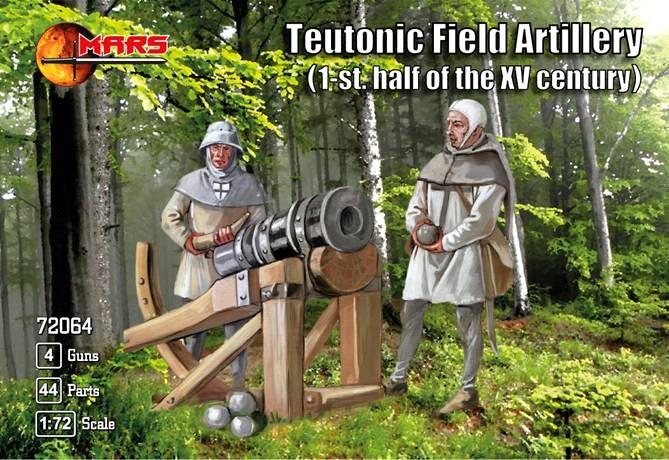Mars Figures 1/72 1st Half XV Century Teutonic Field Artillery (16) w/Guns (4)