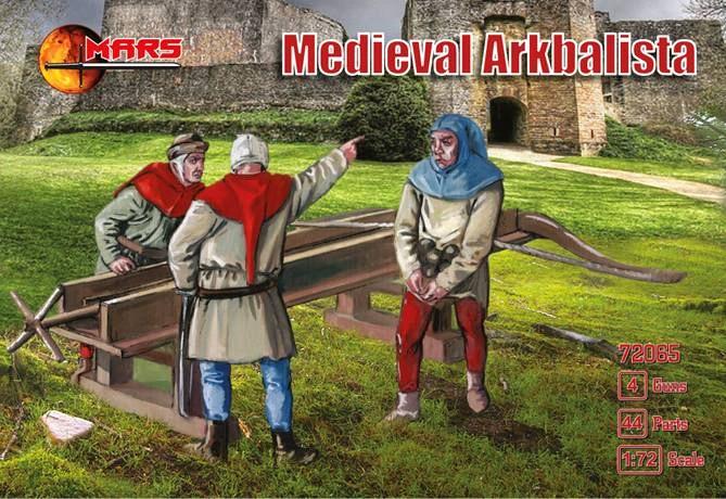 Mars Figures 1/72 Medieval Arkbalista (16) w/Guns (4)