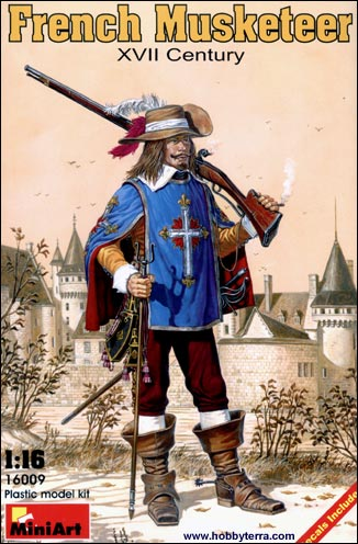 Image 0 of Miniart Models 1/16 XVII Century French Musketeer