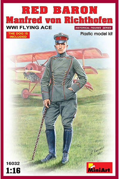 Miniart Models 1/16 Red Baron Manfred von Richthofen WWI Flying Ace