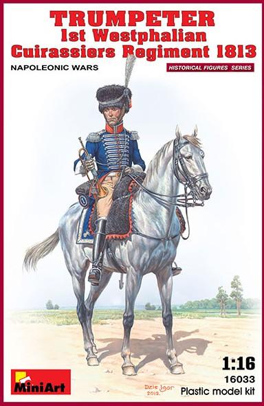 Miniart Models 1/16 Napoleonic Wars Trumpeter 1st Westphalian Cuirassiers Regime