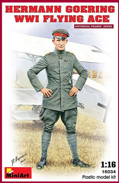 Miniart Models 1/16 Hermann Goering WWI Flying Ace