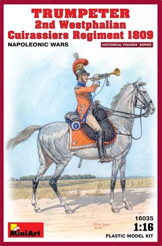 Miniart Models 1/16 Trumpeter on Horse 2nd Westphalian Cuirassiers Regiment 1809