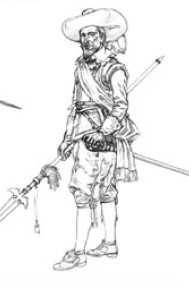 Image 0 of Miniart Models 1/16 Spanish Tercio Officer XVII Century