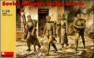 Image 0 of Miniart Models 1/35 Soviet Infantry Marching (4)