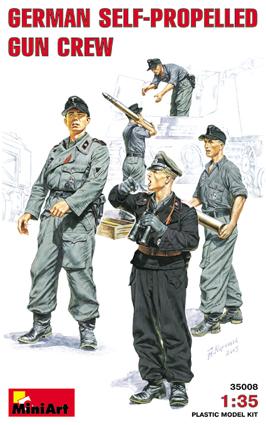 Image 0 of Miniart Models 1/35 German Self-Propelled Gun Crew (5) (D)