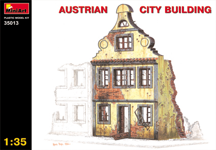 Image 0 of Miniart Models 1/35 Ruined Austrian 3-Story City Building (D)