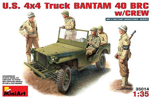 Image 0 of Miniart Models 1/35 US 4x4 Bantam 40BRC Version Truck w/5 Crew
