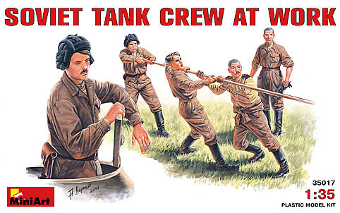 Image 0 of Miniart Models 1/35 Soviet Tank Crew at Work (5) (D)