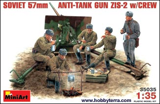 Image 0 of Miniart Models 1/35 ZIS2 Soviet 57mm Anti-Tank Gun w/5 Crew (D)