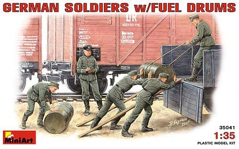 Image 0 of Miniart Models 1/35 German Soldiers (5) w/Fuel Drums