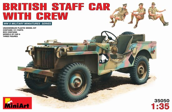 Image 0 of Miniart Models 1/35 British Bantam 40BRC Staff Car w/3 Crew